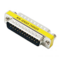 25 Way Male to Male Adapter or Coupler  - Gender Changer
