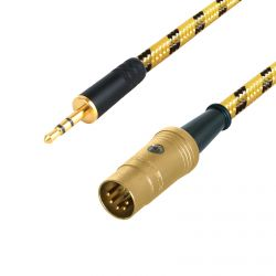 3.5mm Mini Jack to Din Audio Cable. 5 Pin Plug. PLAYBACK Lead. Quad, Naim, B&O. Sommer Vintage Cable