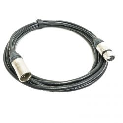 7 Pin XLR Tube Microphone Lead. Neutik XLRs. Standard DEF SPEC black cable