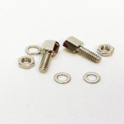 8mm Sub D Female Screw Locks with Hex head. PAIR (x2)