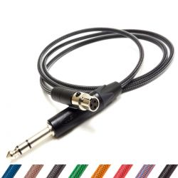 Premium Braided AKG Headphone Replacement Cable, Techflex Coloured Braiding Switchcraft Neutrik