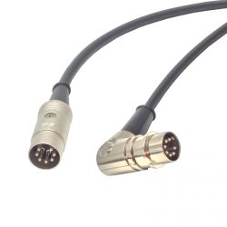 Custom Length Angled to Straight 7 Pin Din Midi Cable. Foot Switch to Amp, Rocktron, Fractal Lead