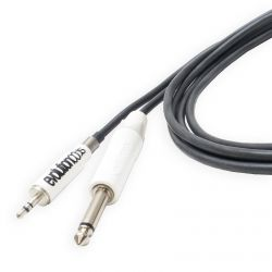 "Evolution Straight Phono (mini jack) Tattoo Cord to 1/4"" Jack. Silicone MEDUSA Cable"