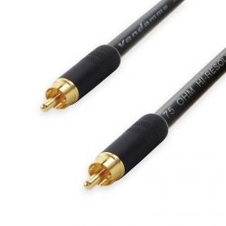 Van Damme COAXIAL RCA to RCA Lead. 75ohm Plasma Coax Cable. CCTV Video SPDIF