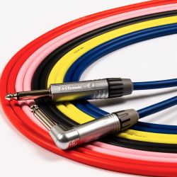 Angled Guitar Lead. FOX ONE Instrument cable. Jack Patch Cord