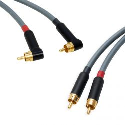 Star-Quad RCA Stereo Pair. Angled Dual Phono. Van Damme Cable. Gold Plated RCAs