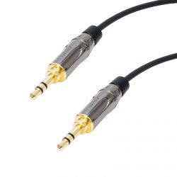 Van Damme HiFLEX Stereo Mini Jack Lead. Premium Recessed 3.5mm Male Plug Cable