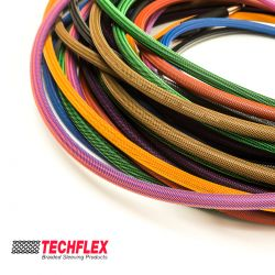 Techflex Flexo PET. PTN0.13. Coloured Expandable Sleeving Braid. 3.2mm.