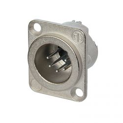 Neutrik NC5MD-LX Male 5 pin XLR Chassis Panel Mount. Silver Contacts