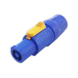 Neutrik Powercon 20A NAC3FCA Cable Input Connector. Blue and Yellow. 250V 20A.