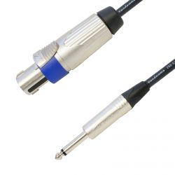 Tour Grade Van Damme Speakon to Mono Jack PA Speaker Cable. (2x1.5mm Conductor Size)