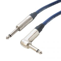 Van Damme (2x2.5mm) Studio Grade Jack to Angled Jack Passive Speaker Lead