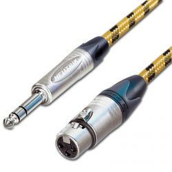 Vintage Balanced Female XLR to ¼ TRS Jack Lead. Sommer Cable.