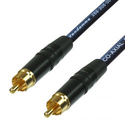 SPDIF Digital Audio Video Coaxial Cable. RCA to RCA. Van Damme 75ohm Coax Phono