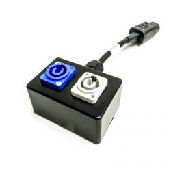 Powercon In and Out to IEC C13 Kettle plug. Adapter, junction box