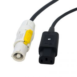 Premium IEC Kettle Lead. Neutrik Powercon to C13 Long Flexible Mains Power Cable