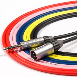 Male XLR to 6.35mm TRS Stereo Jack Cable. Balanced Mixer Interface Monitor Lead
