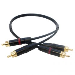 Gold Twin RCA to RCA Lead. Shielded Dual Phono to Phono Audio Cable 1m 3m 10m +