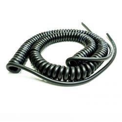 Van Damme Curly Guitar Cable. Mono TS Lead. Flexible Shielded. 70cm >