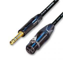 Van Damme Neutrik Gold XLR to Trs Jack Black
