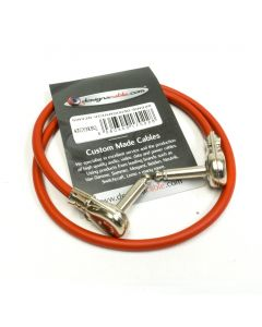 50cm Red Van Damme Instrument, Switchcraft 228 Pancake Jacks, Pedal Board Patch Cable
