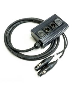 2 Way Studio Wall Mount Box. Neutrik Male to Female XLR Multicore Cable. Digital Compatible