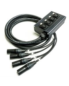 4 Way Studio Wall Mountable Box. Neutrik XLR Multicore Snake Cable. Digital Compatible