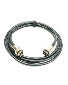 3m, 7 Pin Locking DIN Lead. Flexible Defence Standard cable, Black