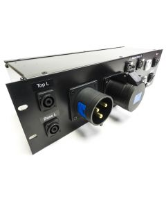 Audio & Mains Power 19inch Distro Panel. 32amp input, Multiple out. Speakon XLR