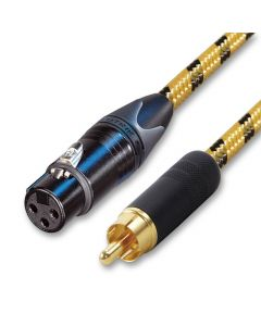 Single Female XLR to RCA Lead Vintage