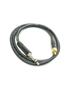 1m GPO Bantam Jack to RCA. Black Van Damme Cable