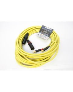 *STEREO PAIR* Pseudo Balanced, 6m Yellow Van Damme XKE Starquad Cable. Switchcraft RCA's to Neutrik Female XLR.