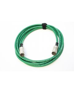 3m Van Damme Green Starquad Cable.Silver REAN 5-Pin to 7-Pin Din MIDI Cable.