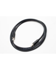 1.5m Van Damme Black Pro Patch Unbalanced XKE Cable, 2.1mm Black Switchcraft DC Plug. Pedal Board Cable