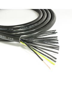 LAPP 18 Core Flexible Mains Cable. 240v Black Socapex Lighting Flex