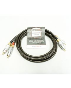 1m Stereo pair RCA Phono Cables. Sommer Spirit XXL with HiCon Locking GOLD RCAs