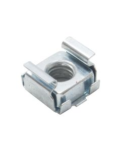 M6 Silver Cage Nut. Spring Lock for Rack Panel. 1.5mm, 2mm, 3mm.