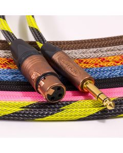 Mogami 2534 Female XLR to TRS Jack Lead. Techflex Braided. Neutrik Copper & Gold