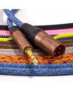 Mogami 2534 TRS Jack to Male XLR Lead. Techflex Braided. Neutrik Copper & Gold