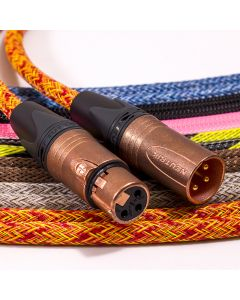 Mogami 2534 Balanced XLR to XLR Lead. Techflex Braided. Neutrik Copper & Gold