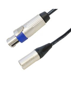 Tour Grade Van Damme Speakon to Male XLR PA Speaker Cable. (2x1.5mm Conductors)