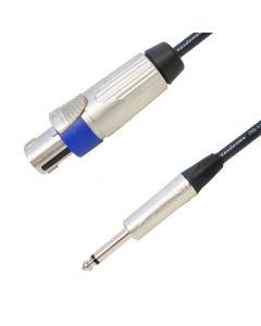 Tour Grade Van Damme Speakon to Mono Jack PA Speaker Cable. (2x2.5mm Conductor Size)