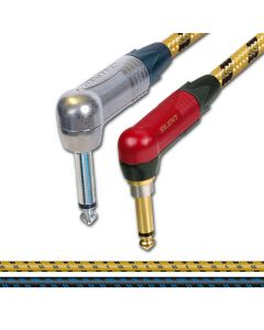 Neutrik Silent (muting) Angled Jack to Jack Guitar Lead. Sommer SC Classique Vintage Cable.