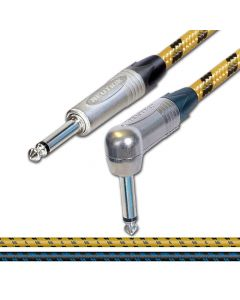 Sommer SC Classique Vintage Cable. Unbalanced Mono Jack to Angled Jack Lead.