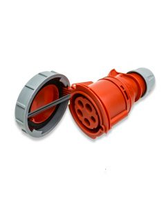 PCE 32A 3P+N+E 400V. 3 Phase. Red Cable Mount Female Socket. IP67 (2252-6)