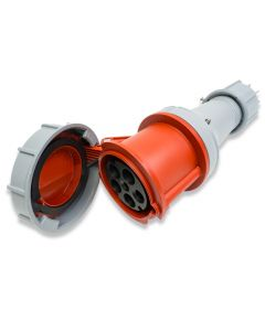 PCE 63A 3P+N+E 400V. 3 Phase. Red Cable Mount Female Socket. IP67 (235-6)