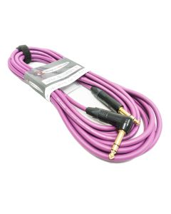 5m Purple Van Damme TRS to Angled TRS, Balanced Jack to jack lead. Old Style Packaging
