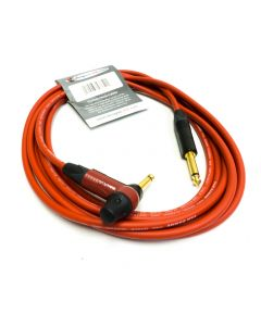 4m Red Van Damme Guitar Lead. Neutrik TIMBRE Jack with EQ