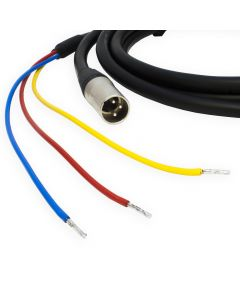 REL / MJ Acoustics 3 Wire Sub Speaker Cable. Neutrik Male XLR to Bare end. Subwoofer