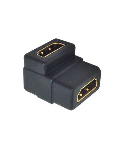 Right Angled Female to Female HDMI coupler joiner. 90 degree